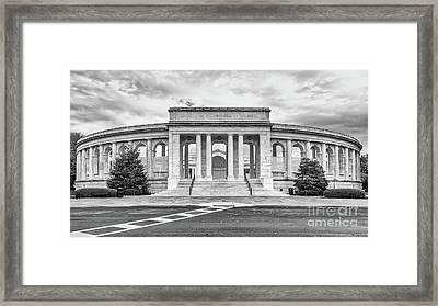 Arlington Memorial Amphitheater Bw Framed Print