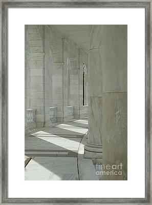 Arlington Memorial Amphitheater Hall Framed Print