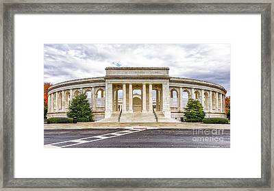 Arlington Memorial Amphitheater Framed Print