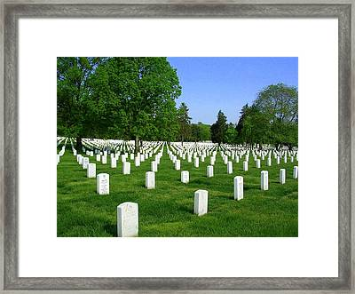 Framed Print featuring the photograph Arlington National Cemetery by Don Struke