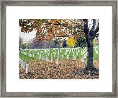 Arlington National Cemetery Virginia Framed Print by Brendan Reals