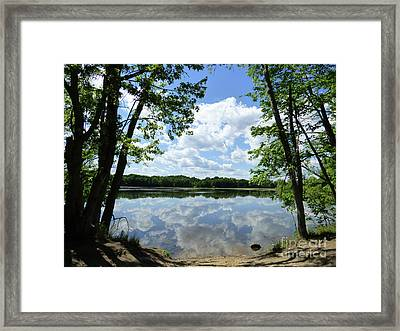 Arlington Reservoir Framed Print
