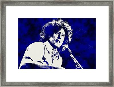 Arlo Guthrie Blue Framed Print by Otis Porritt