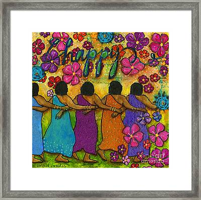 Arm In Arm - The Strongest Chain Framed Print by Angela L Walker