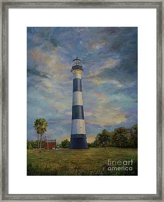 Armadillo And Lighthouse Framed Print