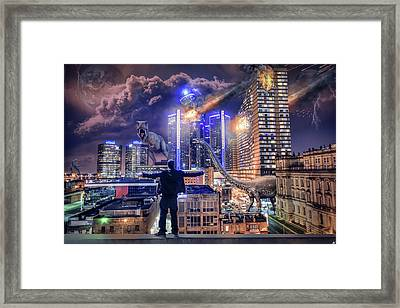 Framed Print featuring the photograph Armageddon Detroit by Nicholas Grunas