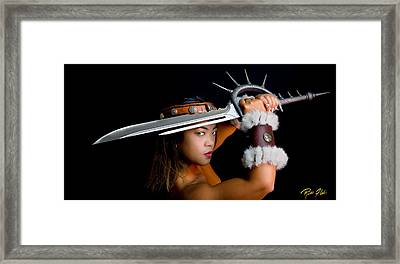 Armed And Dangerous Framed Print by Rikk Flohr