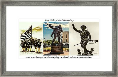 Armed Forces Day Tribute Framed Print by Mark Fuge