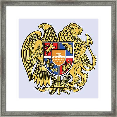 Framed Print featuring the drawing Armenia Coat Of Arms by Movie Poster Prints