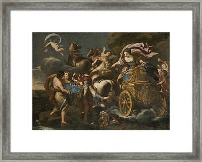 Armida Abducts Rinaldo Framed Print
