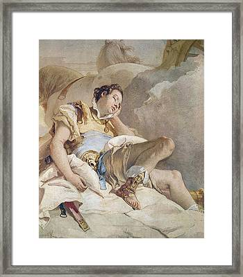 Armida Adbucting The Sleeping Rinaldo Framed Print by Giovanni Battista Tiepolo