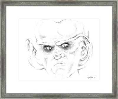 Framed Print featuring the drawing Armin by Kim Sy Ok