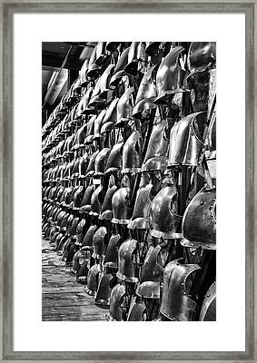 Armor Row Framed Print
