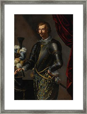 Armor With Blue And Gold Framed Print
