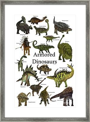 Armored Dinosaurs Framed Print by Corey Ford