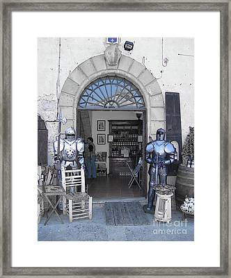 Armored Guards Framed Print