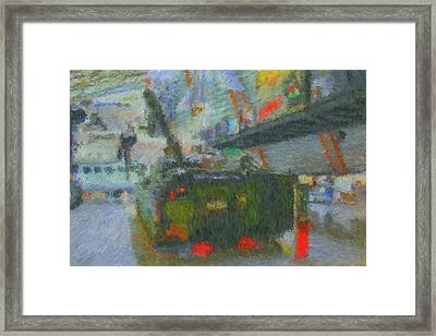 Framed Print featuring the digital art Armored Personnel Carrier by John Lowe
