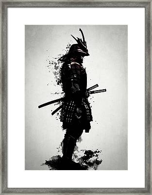 Armored Samurai Framed Print by Nicklas Gustafsson