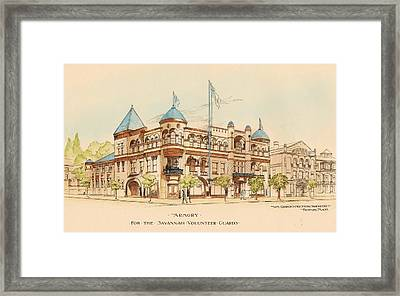 Armory For The Savannah Volunteer Guard. Savannah Georgia 1893 Framed Print