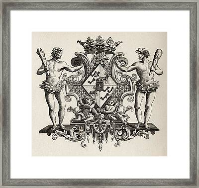 Arms Of The Duchess Of Kendal From The Framed Print