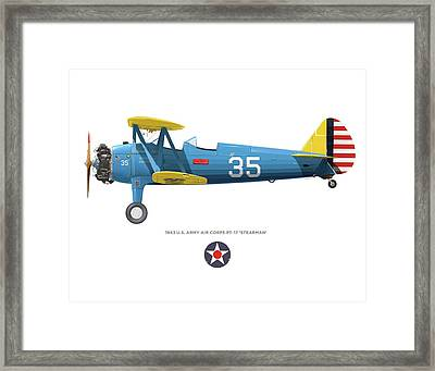 Army Air Corps Pt-17 Framed Print