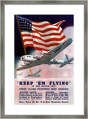 Army Air Corps Recruiting Poster Framed Print by War Is Hell Store