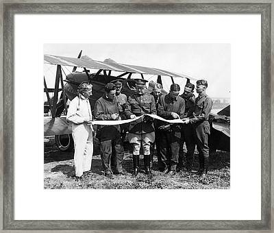 Army Air Service Pilots Framed Print