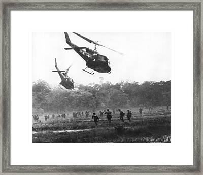 Army Airborne In Vietnam Framed Print