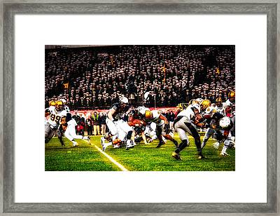 Army And Navy Battle In The Snow Framed Print by Mountain Dreams