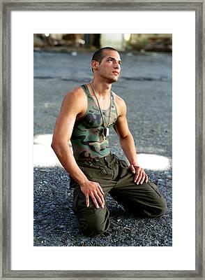 Army Boy 1 Framed Print by Filippo Ioco