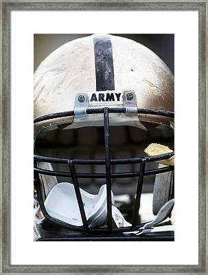 Army Football Helmet Framed Print by Getty Images