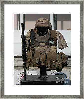 Army Gear Framed Print
