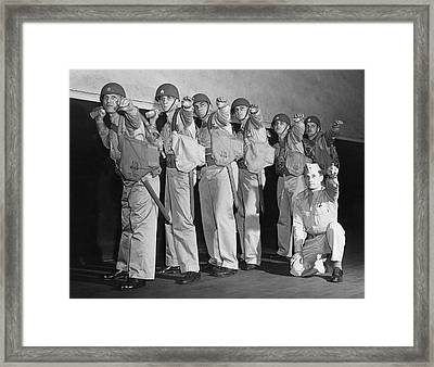 Army Gernade Training Framed Print by Underwood Archives