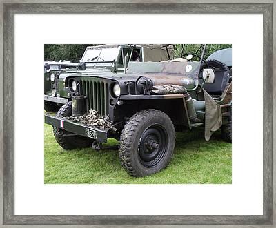 Army Jeep U.s.a. Framed Print by Dawn Hay