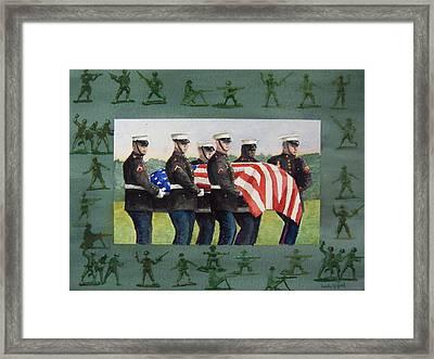 Army Men Framed Print by Haldy Gifford