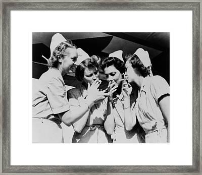 Army Nurses Lighting Framed Print by Everett