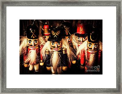 Army Of Wooden Solders Framed Print by Jorgo Photography - Wall Art Gallery