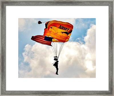 Army Paratrooper 2 Framed Print