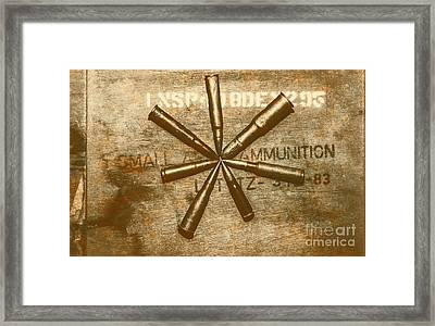 Army Star Bullets Framed Print