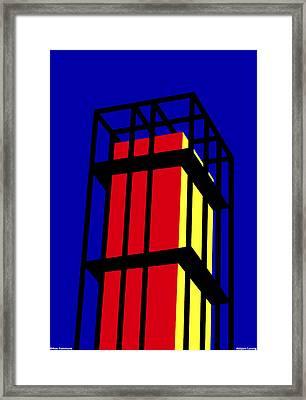 Arne Jacobseb Tower Framed Print by Asbjorn Lonvig