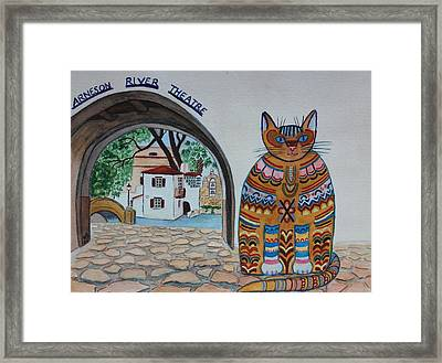 Arneson Theatre Cat Framed Print