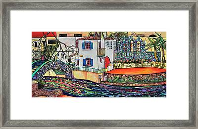 Framed Print featuring the painting Arneson Theatre In Blues by Patti Schermerhorn