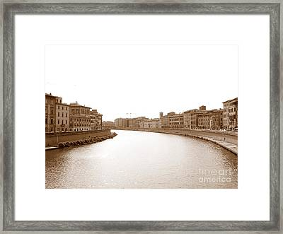Arno River In Pisa Framed Print