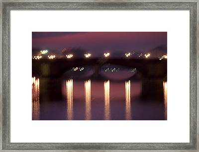 Arno River Reflections Framed Print by Brad Rickerby