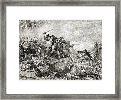 Arnold At Saratoga, 1777. Benedict Framed Print by Vintage Design Pics