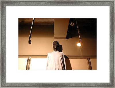 Arnold In The Spotlight Framed Print by Jez C Self