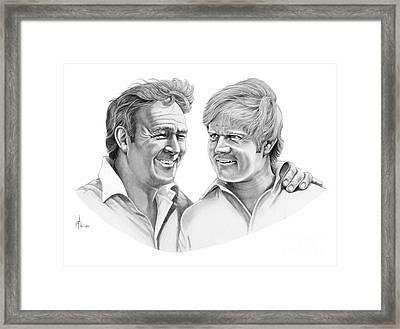 Arnold Palmer-jack Nicklaus Framed Print by Murphy Elliott