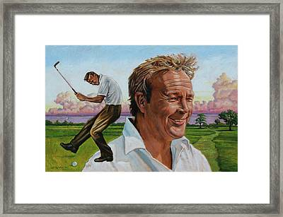 Arnold Palmer Framed Print by John Lautermilch