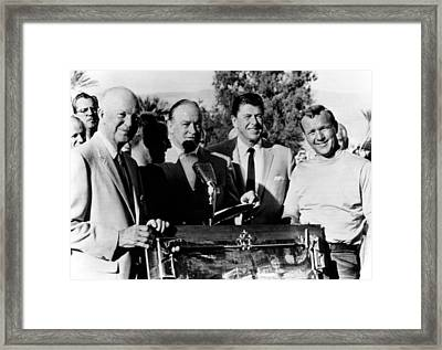 Arnold Palmer Right, Receives The Bob Framed Print by Everett