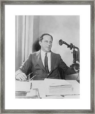 Arnold Rothstein 1882-1928, Fixer Framed Print by Everett